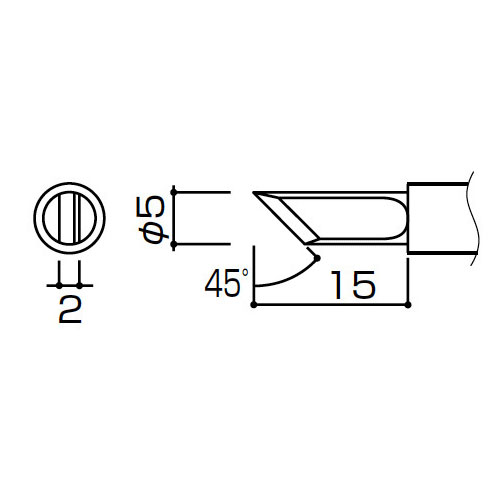 白光:953用こて先K型(10本) T4-K 000056087015