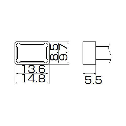 白光:こて先 PLCC13.6X8.5 T12-1201 000056087175