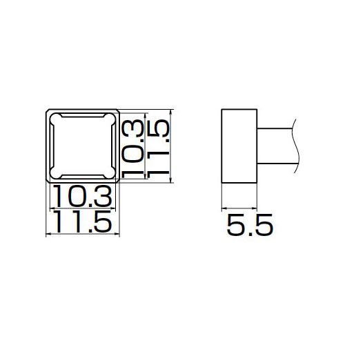 白光:こて先 PLCC10.3X10.3 T12-1202 000056087176