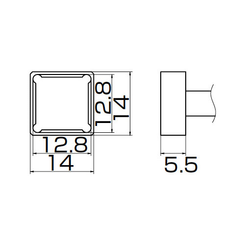 白光:こて先 PLCC12.8X12.8 T12-1203 000056087177