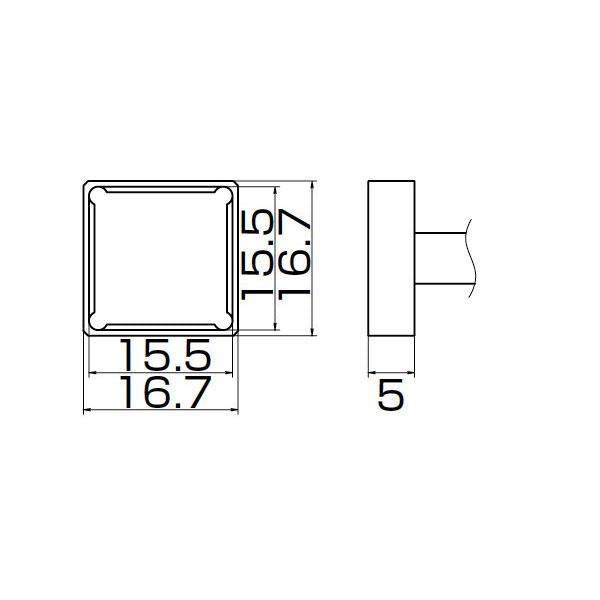 白光:こて先 PLCC15.5X15.5 T12-1207 000056087181