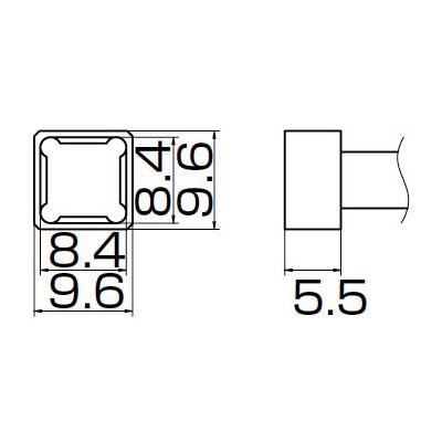 白光:こて先 PLCC8.4X8.4 T12-1209 000056087183