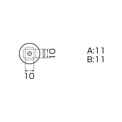 白光:ノズル PLCC 9MM X 9MM A1188B 000056801188