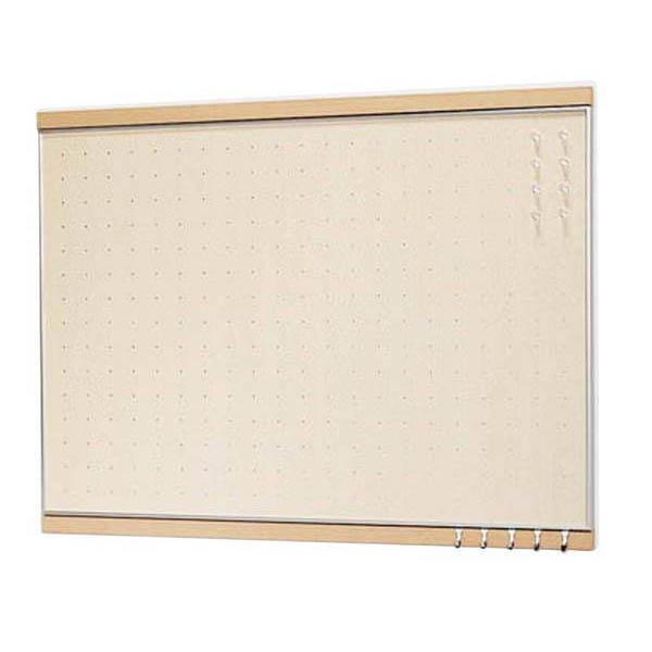ベルク:フック付マグボード ナチュラル 600×900mm MR-4052 掲示板 アート パネル
