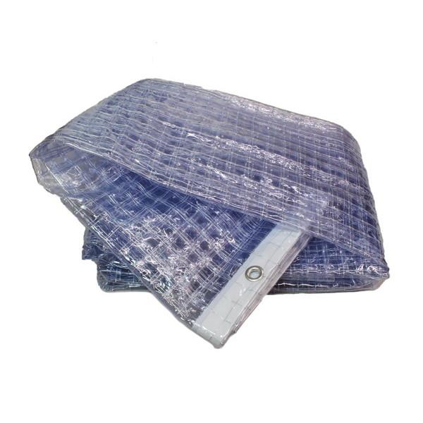 ハイロジック:大型カーテンレール用ビニールカーテン 0.3厚×4.0m(ハトメ)×2.0m 耐候 上面ハトメ 00058085