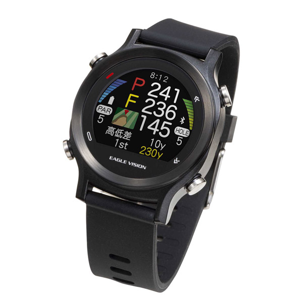 朝日ゴルフ:ゴルフナビ EAGLE VISION watch ACE イーグルビジョン ウォッチエース 腕時計型 GPSゴルフナビ GPSナビ 飛距離 距離計 EV-933