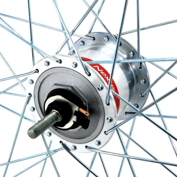 アサヒサイクル:アルミリム前輪 ハブダイナモ LEDライト付 タイヤチューブ無 27x1-3/8 シマノLEDライト HLQ-08