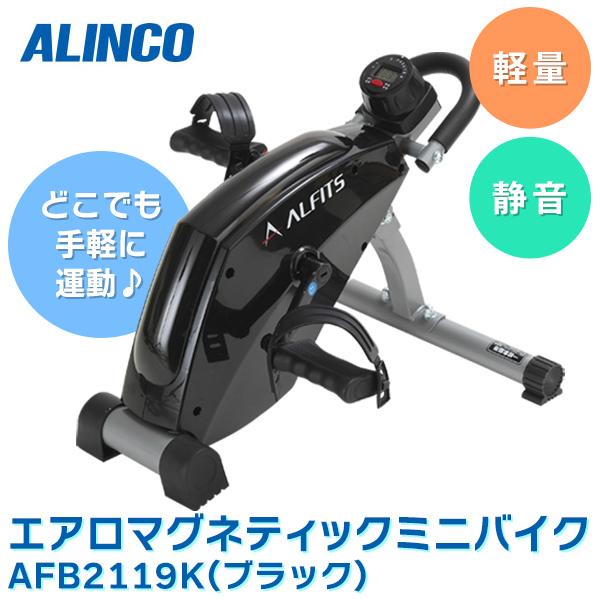 あす楽 アルインコ:エアロマグネティック ミニバイク 2119 フィットネス トレーニング 有酸素運動 省スペース 静音 セルフメンテナンス AFB2119K