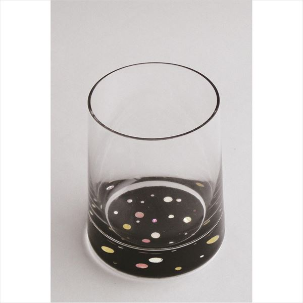 天野漆器:グラス 水玉(貝入) 黒