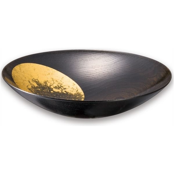 箔一:おぼろ月ボウル(漆)八寸 A101-06003