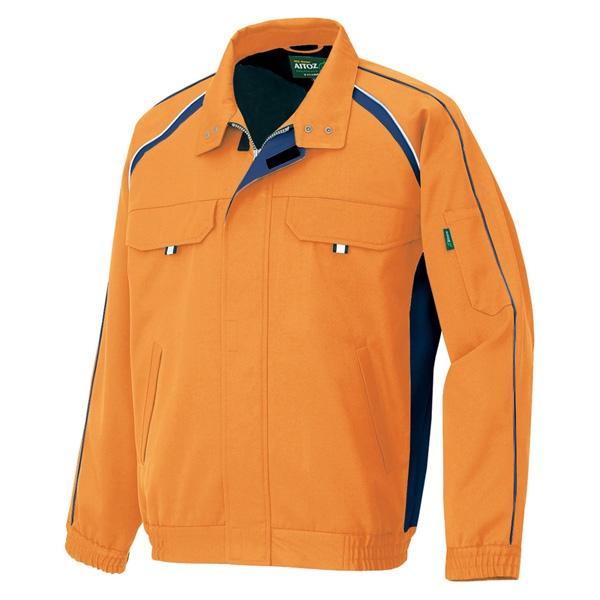 アイトス:エコワーカーフォレスト 長袖ブルゾン(男女兼用) オレンジ 4L 1701