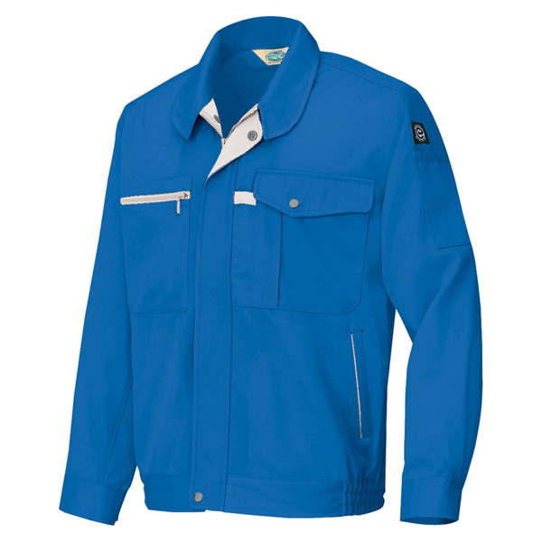 アイトス:エコ交織マルチワーク 長袖ブルゾン(男女兼用) ロイヤルブルー 5L 6360
