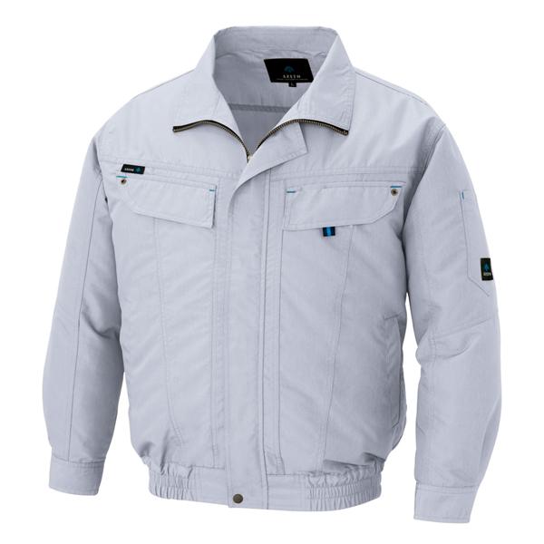 アイトス:長袖ブルゾン(空調服TM)(男女兼用) シルバーグレー 6L 30599