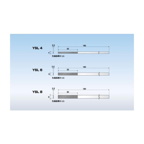 AXEL(アクセル):ダイヤモンドヤスリ 精密平テーパー YSL8-1.5