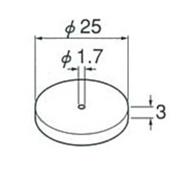 AXEL(アクセル):軸付フェルト HRS25-3
