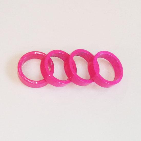 【後払い不可】【代引不可】POSTINO:スペーサー(バラ) ピンク