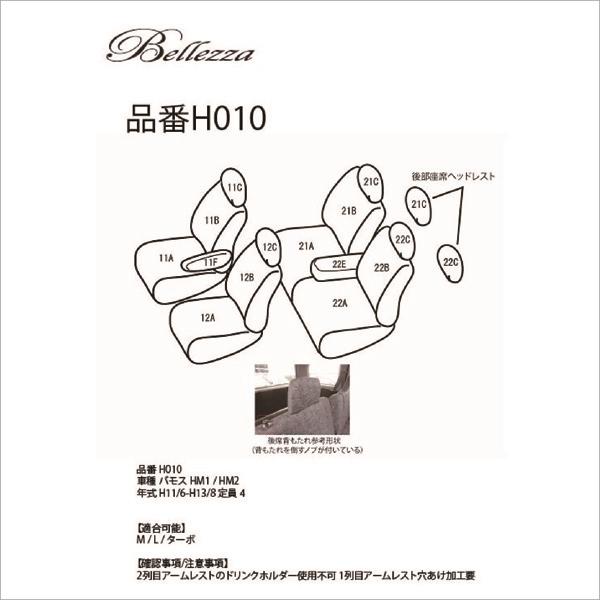 BELLEZZA(ベレッツァ):Selection セレクション シートカバー (ブラック)