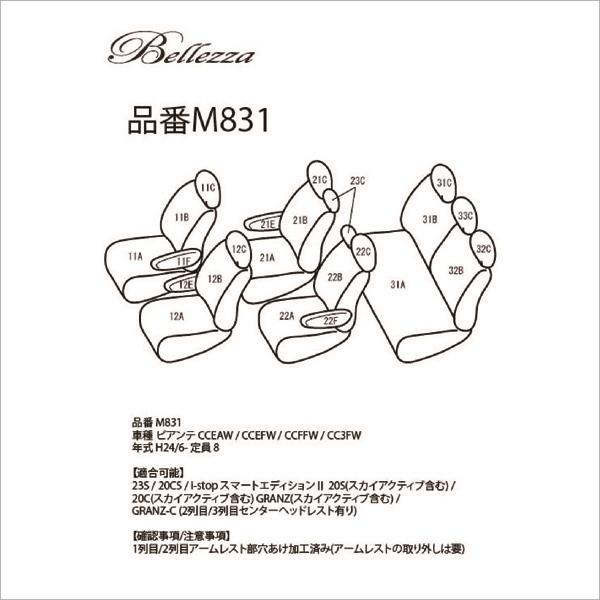 BELLEZZA(ベレッツァ):Selection セレクション シートカバー (グレー)
