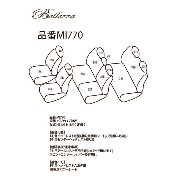 BELLEZZA(ベレッツァ):Casual S-LINE カジュアル エスライン シートカバー (ブラック)