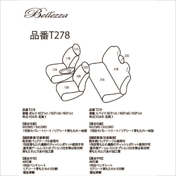 BELLEZZA(ベレッツァ):Wild Stitch ワイルドステッチ シートカバー (ライトベージュ×ホワイト)
