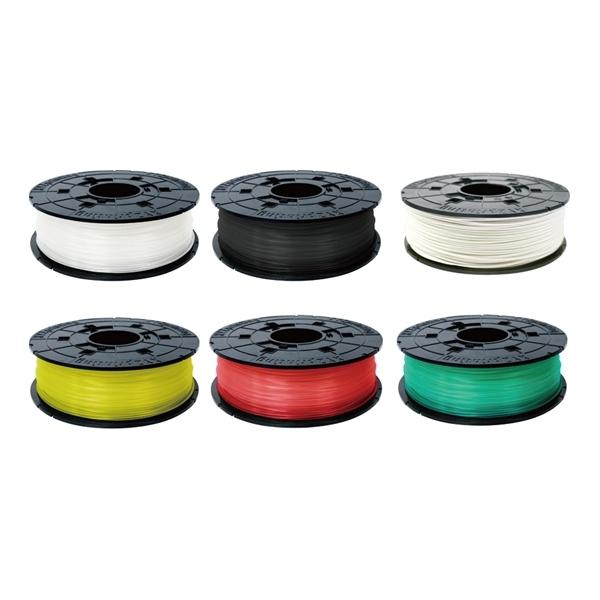 XYZプリンティングジャパン:ダヴィンチJr./Mini用カラー6セット17A(クリア*1、ブラック*1、ホワイト*1、クリアイエロー*1、クリアレッド*1、クリアグリーン*1) RFPLCXJPZRB