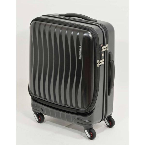 エンドー鞄:FREQUENTER CLAM A ストッパー付き4輪キャリー(前開き) 52cm クロ 1-215 クロ