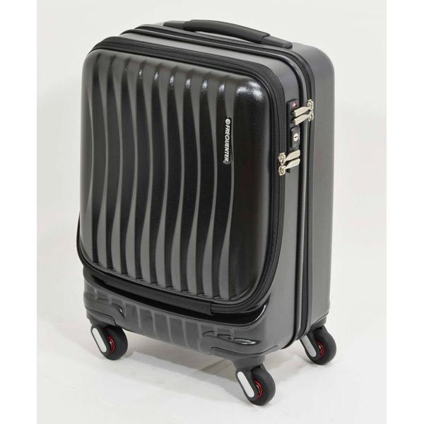 エンドー鞄:FREQUENTER CLAM A ストッパー付き4輪キャリー(前開き) 46cm クロ 1-216 クロ
