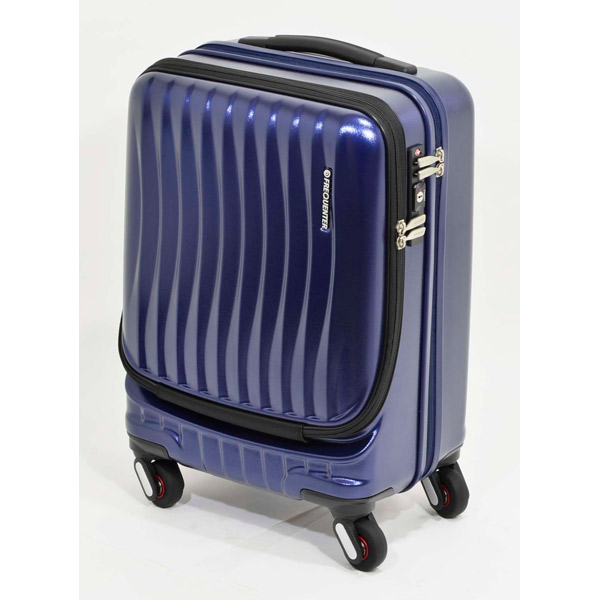 エンドー鞄:FREQUENTER CLAM A ストッパー付き4輪キャリー(前開き) 46cm コン 1-216 コン 旅行 出張 ハード おすすめ