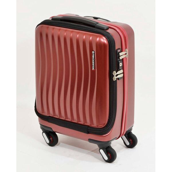 エンドー鞄:FREQUENTER CLAM A ストッパー付き4輪キャリー(前開き) 41cm ワイン 1-217 ワイン 旅行 遠征 PC収納可 ビジネス