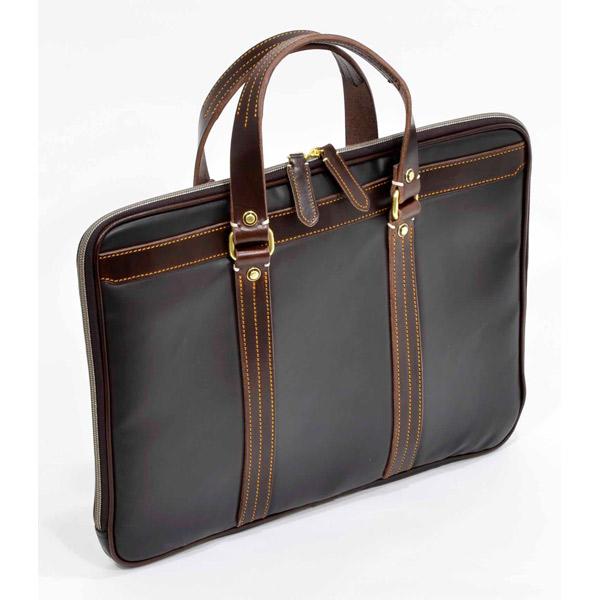 エンドー鞄:Regale マチなしブリーフ ブラウン 7-044 ブラウン