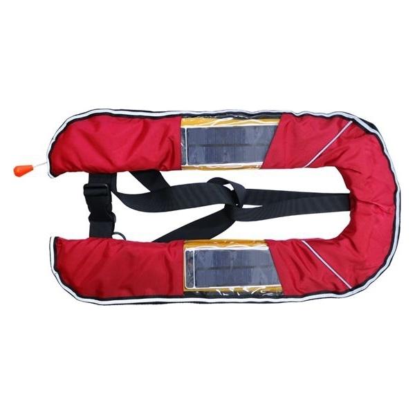 DABADA(ダバダ):LED付きライフジャケット ベスト自動 レッド led-jacket-auto