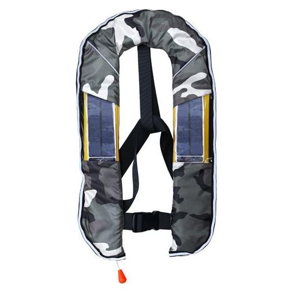 DABADA(ダバダ):LED付きライフジャケット ベスト自動 迷彩B led-jacket-auto