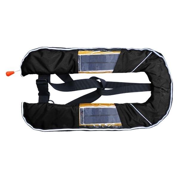 DABADA(ダバダ):LED付きライフジャケット ベスト手動 ブラック led-jacket-manual