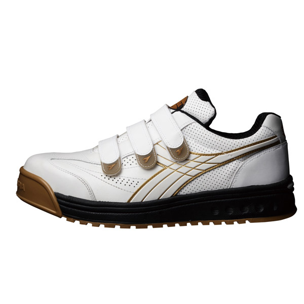 DONKEL(ドンケル):ディアドラ ロビン ホワイト/ホワイト RB11 26.5cm 作業靴 工場 現場 業務用 面テープ おしゃれ メンズ