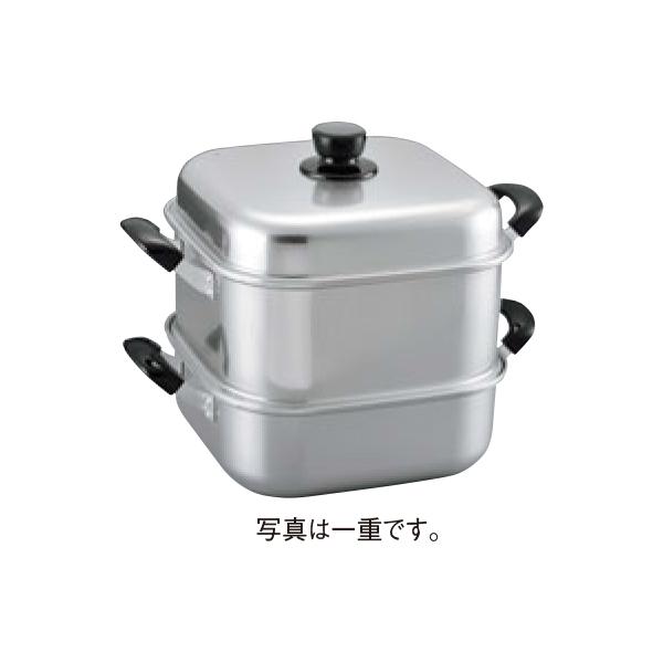 アルマイト 角型蒸器 33cm 一重 4434530