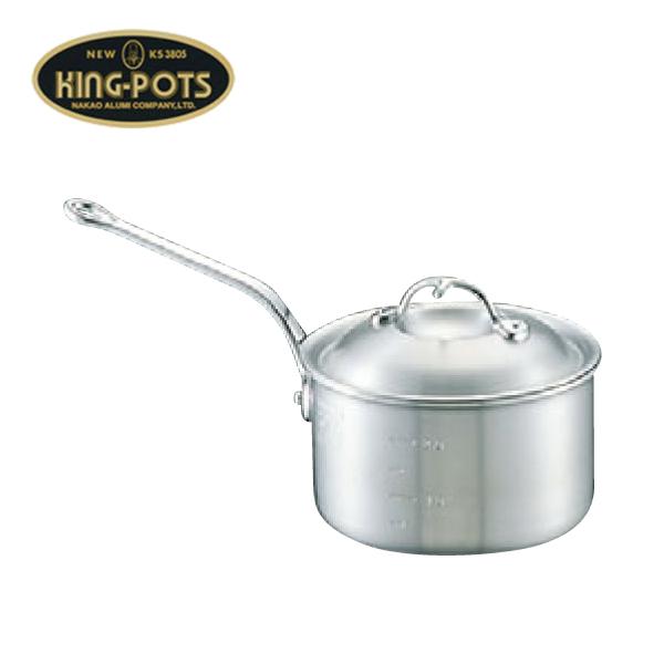 ニューキング:アルミ 深型 片手鍋 (目盛付) 0067500