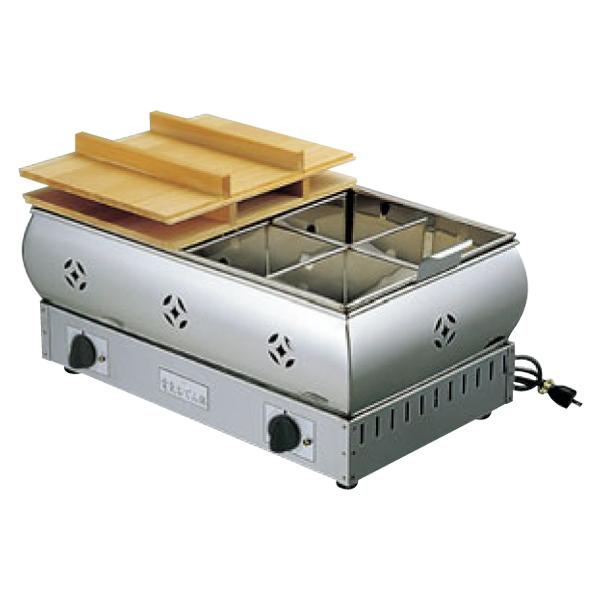 EBM:18-8 電気 おでん鍋 8寸 4ツ仕切 0876000