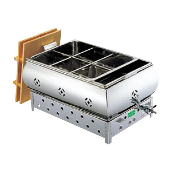 EBM:18-8 湯煎式 おでん鍋 尺2 4ツ仕切 13A 0885120