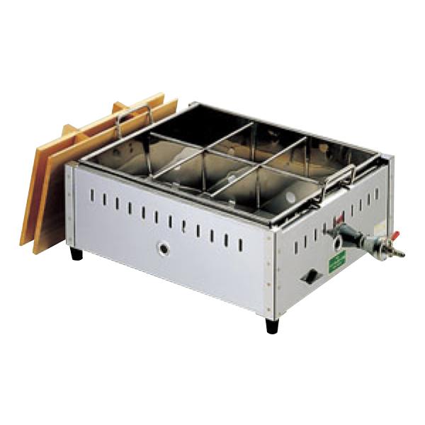 EBM:18-8 関東煮 おでん鍋 尺5 6ツ仕切 13A 0885820