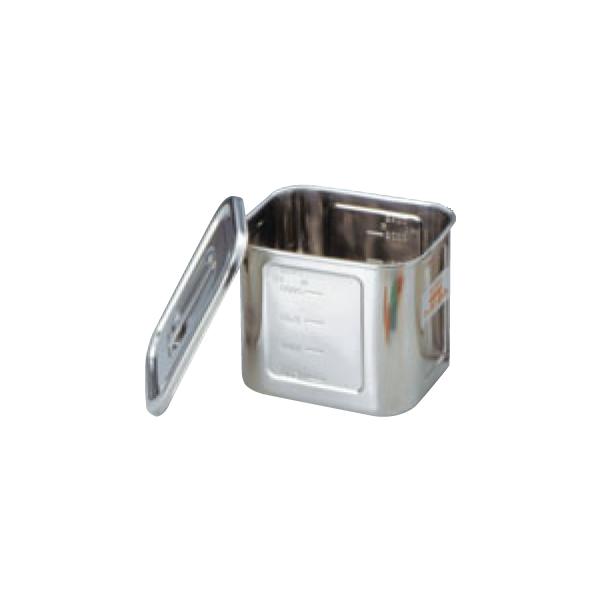 BK 18-8 角型 キッチンポット 目盛付 0039500