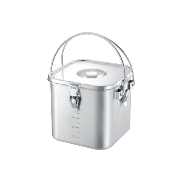IH対応 19-0 角型給食缶(目盛付) 5645200