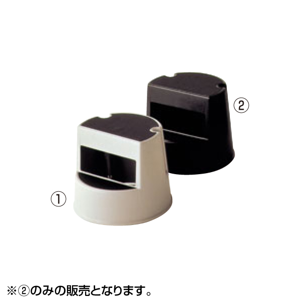 ラバーメイド:ステップスツール 丸型 2523 ブラック 5335000
