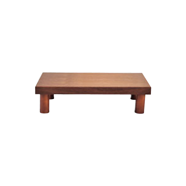 木製 システム ディスプレイ スタンド ブラウン ロータイプ 1563930