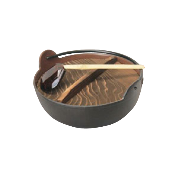 五進 鉄 田舎鍋 30cm 杓子付 3284900
