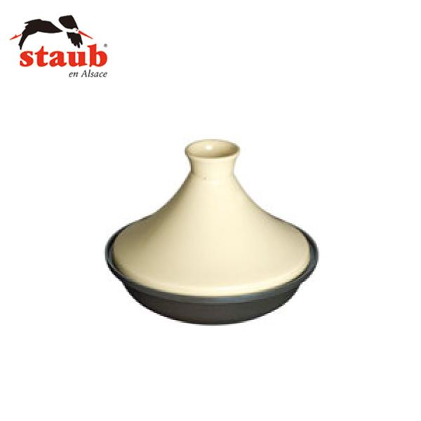ストウブ:タジン鍋 ホワイト 28cm 40509-395 1897800
