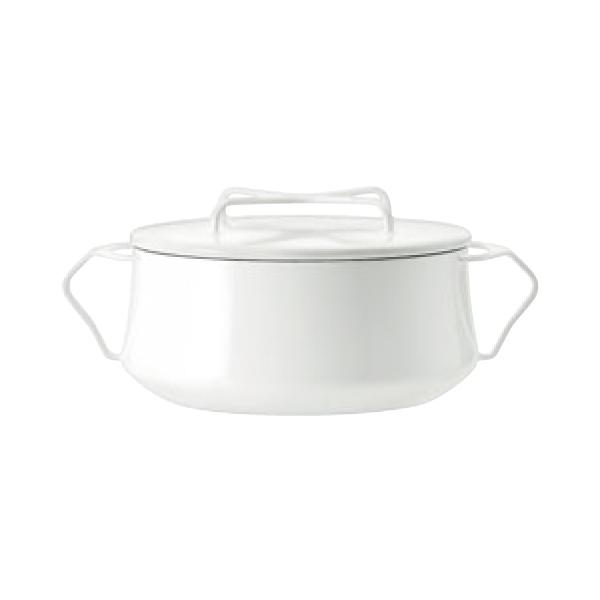 ダンスク:両手鍋 2QT ホワイト 7864500