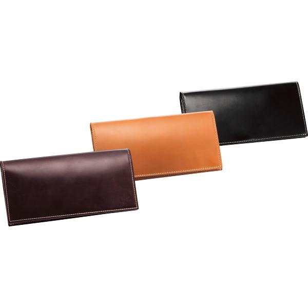 【代引不可】グレンフィールド:ブリティッシュグリーン ブライドルレザー長札財布 ブラック 10810001