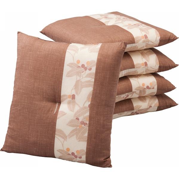 豊泉産業:座布団5枚セット ブラウン 251-55-5