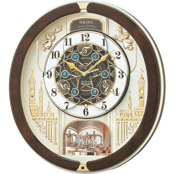 【代引不可】セイコークロック:セイコー メロディ電波からくり掛時計(39曲入) RE579B