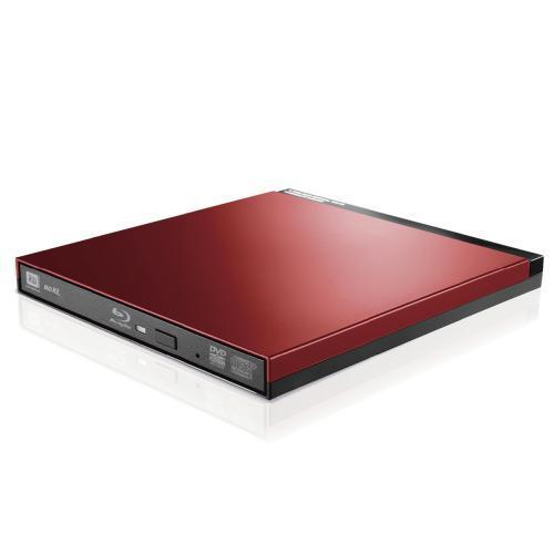 エレコム:Blu-rayディスクドライブ/USB3.0/スリム/書込みソフト付/レッド LBD-PUD6U3LRD